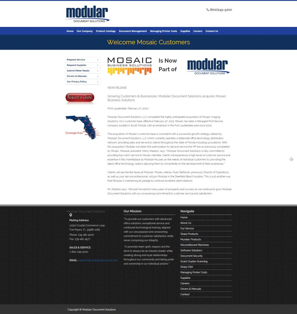 Modular Document Solutions Miami Copiers