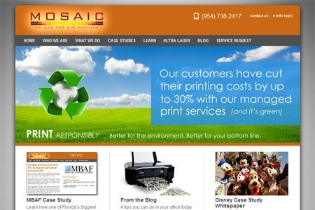 Brand messaging and SEO for Mosaic Business Solutions